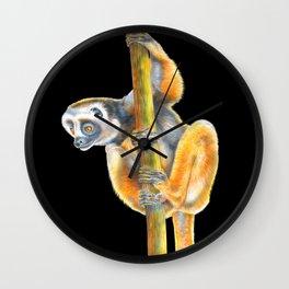 Diademed Sifaka Wall Clock
