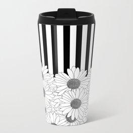 Daisy Stripe Metal Travel Mug