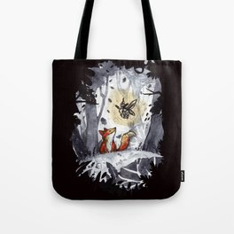 Fox and the Moth Tote Bag