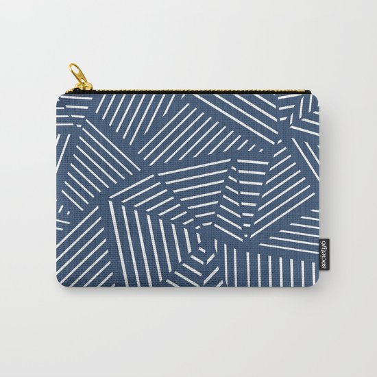Abstraction Linear Zoom Navy Carry-All Pouch