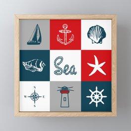 Nautical design 4 Framed Mini Art Print