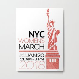 NYC Women's March 2018 Metal Print