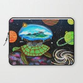 Cosmic Turtle Journey Through Space Laptop Sleeve