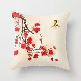 Oriental plum blossom in spring 011 Throw Pillow