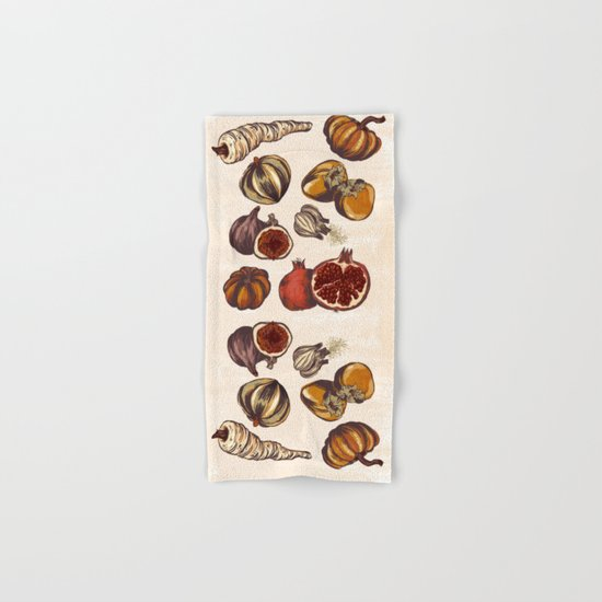 Fall Produce Hand & Bath Towel