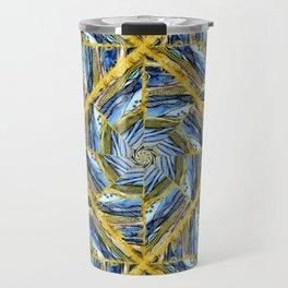 golden day kaleidoscope pattern Travel Mug