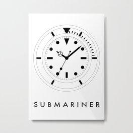 Rolex Submariner (Submariner) Metal Print