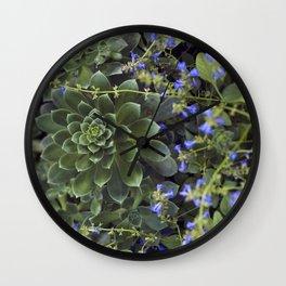 Succulent Smitten Wall Clock