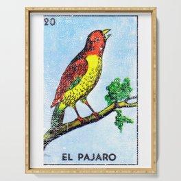El Pajaro Mexican Loteria Bingo Card Serving Tray