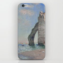 The Rock Needle and the Porte d'Aval by Claude Monet iPhone Skin