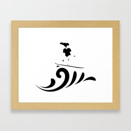 Surf up (: Framed Art Print