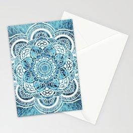 Mandala Aqua Turquoise Colorburst Stationery Cards