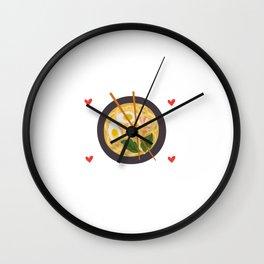 Just A Girl Who Loves Ramen Noodles Shrimp Wall Clock