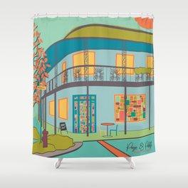 Page & Palette, Fairhope, Alabama Shower Curtain