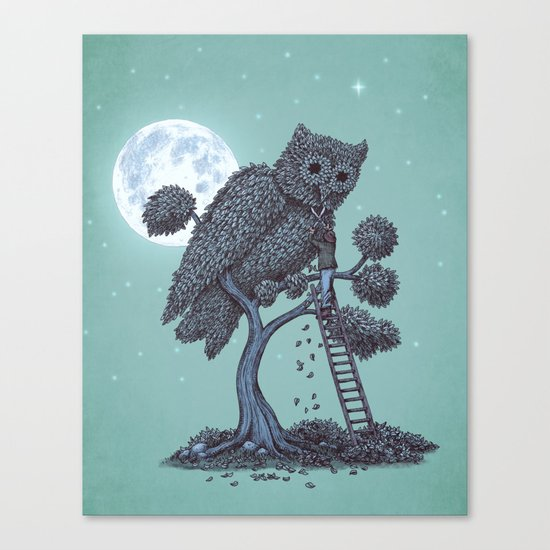 The Night Gardener  Canvas Print
