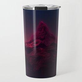 Pink mountains at night Travel Mug