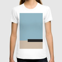 01 color block blue T-shirt