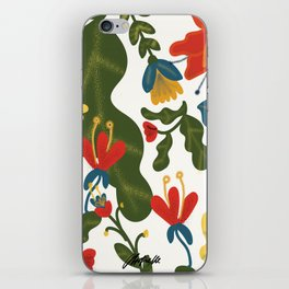 Tropical Flower Pattern iPhone Skin