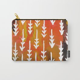 Orange Arrows Carry-All Pouch
