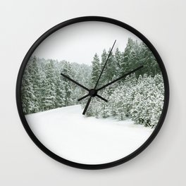 Winter Road Wall Clock