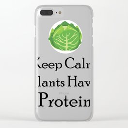 Vegetarian Funny Gift Clear iPhone Case