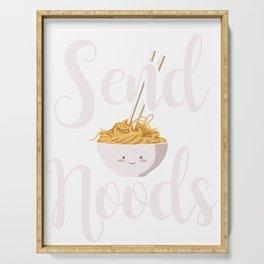 Send Noods Noodles Asian Food Cuisine China Japan Design Serving Tray