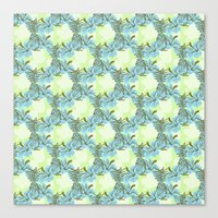 pinapple Canvas Prints featuring Pinapple x Ibisco by Silbox
