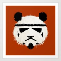 trooper Art Prints featuring Panda Trooper by Danny Haas
