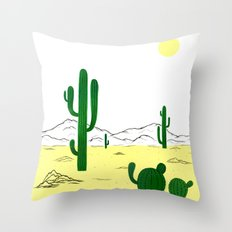 Man & Nature - The Desert Throw Pillow