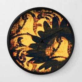 Velvet in Black Wall Clock