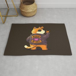 Born In Hell Rug