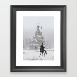 where the ancient pagan temple had once stood Framed Art Print