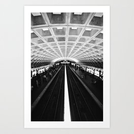 D.C. Metro Art Print