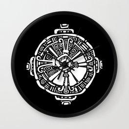 Hunab Ku.  Mayan symbol. Hand Drawn detailed pattern. Wall Clock
