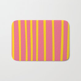 Pink and Yellow Stripes Bath Mat