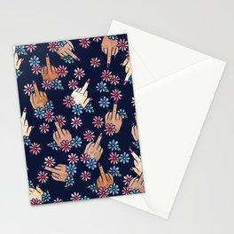 Middle Finger Floral Stationery Cards