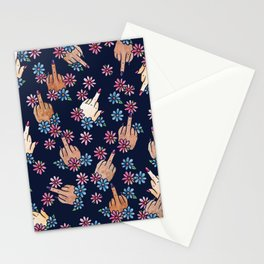 Middle Finger Floral Stationery Cards