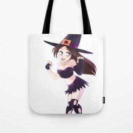 Manga Witch Girl Tote Bag