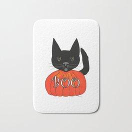 Halloween Black Cat Bath Mat
