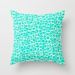 Black Tie Collection Links Teal Colorway Throw Pillow