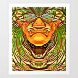 Three Faces ~ The Sleeping Clown Art Print