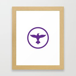 Dove Spreading Wings Circle Framed Art Print