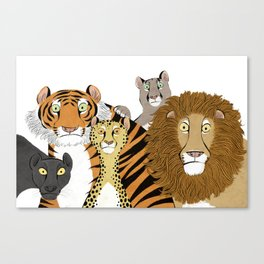 Surprised Big Cats Canvas Print