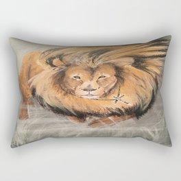 Roaring Like A Lion Rectangular Pillow