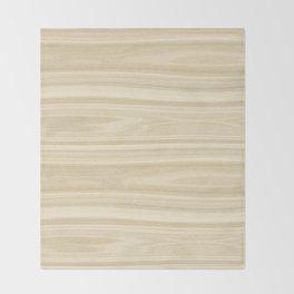 Maple Wood Texture Throw Blanket
