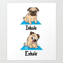 Pug Yogga Puppy Art Print