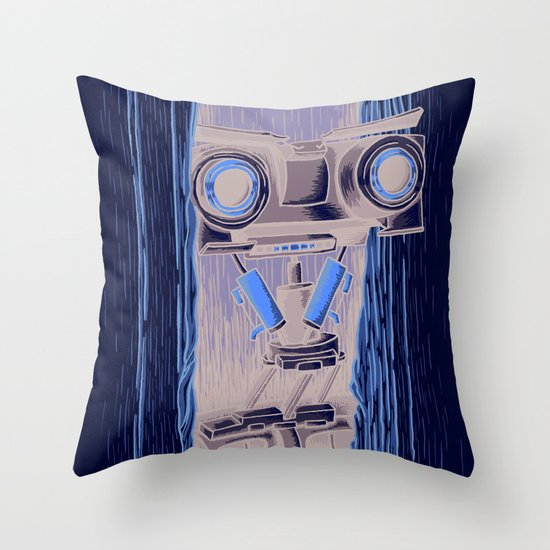 Here's Johnny 5! Throw Pillow