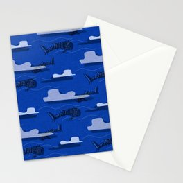 Whale Shark Navy #nautical #whaleshark Stationery Cards