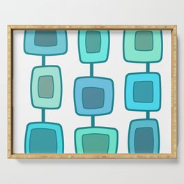 MidCentury Modern Swatches (Turquoise) Serving Tray