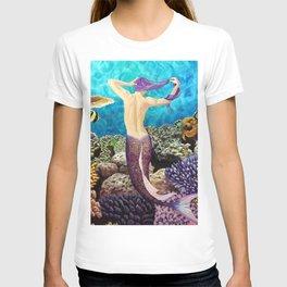 Morning Routine - Mermaid seascape T-shirt